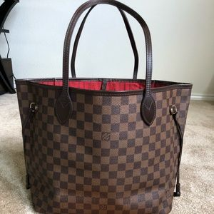 Authentic preowned lv Neverfull MM DE